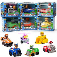 Wholesale Paw patrol snow slide Marshall Rubble Chase Rocky Zuma Skye baby Children s Day gift patrol car