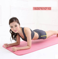 Wholesale Beginners thick MM multifunctional slip fitness mat natural rubber yoga environmentally safe solid