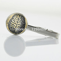 anatomy human brain - Human Anatomy Brain Weird Cool Science Tie Clip High Quality art picture Tie Clips Decoration male Classic tie pin T