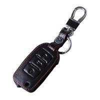 auto parts vw jetta - 2016 New High Quality key wallet car genuine leather key cover auto parts for Volkswagen VW Jetta Black and Brown
