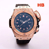 Wholesale Men Watch Luxury Watches Big Dial Quartz Wristwatches Top Brand H calendar dial Rubber Strap Big Bang Gift for men relogies