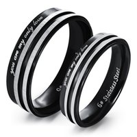 Wholesale Fashion Black Couples Rings Stainless Steel Jewelry Rings for Women Men High Quality Couple Jewelry