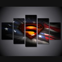 abstract art pics - 5 Set No Framed HD Printed Movie Superman Art PIC Painting Canvas Print room decor print poster picture canvas graffiti spray paint