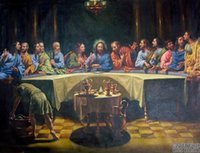 Oil Painting art last supper - THE LAST SUPPER Christ Jesus Pure Handmade World Famous portrait Art Oil painting canvas In Any size customized