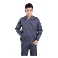 Wholesale Latest Verion Long Sleeve Suit Man Work Uniform Clothes Overalls Superior Fabric Five Size Safety Protective Overalls Grey Color