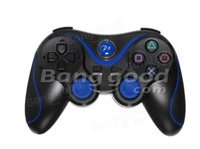 action xbox games - Black blue Trendy Axis Bluetooth ABS Wireless Game Controller For SONY PS3 Redesigned action buttons pattern