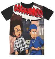 Wholesale Real USA Size custom made Craig _ Smokey x Boondocks Huey _ Riley D Sublimation print T Shirt Plus size