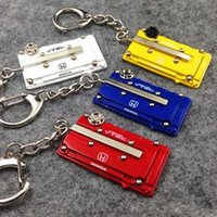 accord rings - METAL keychain For Honda Type R style EK EG B series Engine cover keychain JDM style key ring