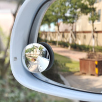 beveled mirrors - The new HD boundless big vision small round mirror blind spot mirror beveled glass mirror