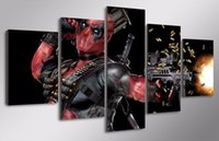 automatic spray painting - HD Printed deadpool mask gun automatic Painting Canvas Print room decor print poster picture canvas