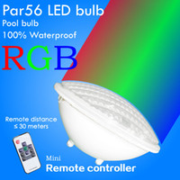 Wholesale Par56 LED Underwater lights swimming pool lighting V AC DC High quality waterproof LED LAMP RGB Remoter controller Changeable