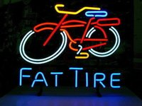 Wholesale Fat Tire Bicycle Bike Beer Bar Real Glass Handmade Neon Light Sign quot x14 quot