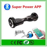 al por mayor ajuste de la velocidad-Rueda de equilibrio inteligente de Hoverboard de Bluetooth Rueda eléctrica de 2 ruedas Monopatín eléctrico de APP Control por Fedex Ajuste de velocidad Envío de gota al por mayor