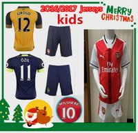 arsenal white - kids Arsenal home away rd jerseys color blue red white US SIZE16 Shorts sleeve top quality Customized name