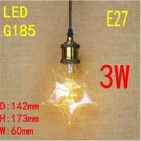 Wholesale 3w E27 Base Edison Filament v v Sky Lamp Star Shape Creative Starry Bulb Light for Christmas Holiday Coffee Shop Decor