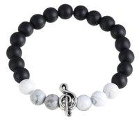 bead semiprecious - Natural Multicolor Gemstone Beaded Bracelets Men Women Healing Semiprecious Lava Shell Lapis Charms Beads Elastic Wristband Bangles