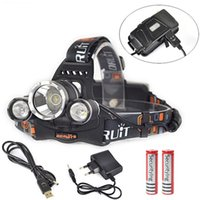 Wholesale 6000 Lumens x XM L T6 LED Headlamp Head Light Torch Batteries USB AC Charger LHL_10E