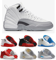 easter baskets - 2016 high quality air retro XII man Basketball Shoes ovo white Flu Game GS Barons gym red french blue wolf grey Sneakers