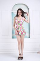 Cheap 2016 new swimwear, red floral design fit fitted nylon fabric