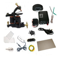 Wholesale complete tattoo kit beginner tattoo kit Tattoo Machine Set with Tattoo Machine Guns Power Supply Needles