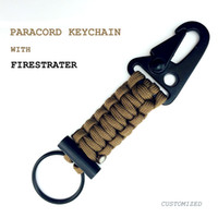 best car camping - Paracord Carabiner Survival Keychain Lanyard Military Grade Type III Strand Lb Test Cord Premium Best Quality Outdoor Gear