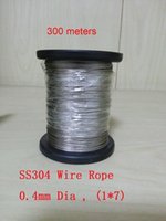 Wholesale 300 meters mm Dia SS304 Stainless Steel Wire Rope Structure