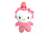 Wholesale Baby Milk Bottle Fleece Covers Plush Toys Gifts Keep Warm Holders Animal Shape Washable Portable Thermal Feeding Nursing Bags PINK KITTY