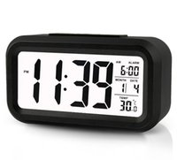 Wholesale Digital Alarm Clock Morning Clock Backlight temperature Date temperature Display When Detect Soft Light That Won t Disturb The Sleep