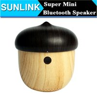 audio equipment speakers - JS Nuts Shape Portable Mini Bluetooth Stereo Speaker Sound Box Subwoofer Mp3 Music Audio Equipment Eco Friendly for iPhone iPad