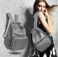 bag fund - Vogue of new fund of han edition wind PU backpack backpack bags college brand bags