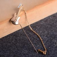 american violin - Literary Violin Korean retro elegant brooch pin brooch custom dress shirts for men and women