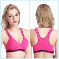 Wholesale women style seamless sports bra padded no steel ring sportsgym vest multicolors light yoga running skipping vest