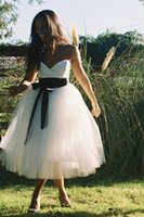 Autumn/Spring b tea - Tea Length Wedding Gowns A Sweetheart Beads With Pockets B Sweetheart Simple Elegant Charming Bridal Gowns Fashion With Crystal Sequined