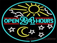 open sign - 2016 LED Open Hours Real Glass Neon Light Signs Bar Pub Restaurant Billiards Shops Display Signboards quot x14 quot
