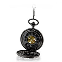 analog burton - New Style The Burton Nightmare Before Christmas Dial Pendant Necklace Chain Mechanical Pocket Watch Mens Gifts