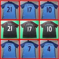 best spandex - Top Thai Best quality BLUE BLACK Shirts survetement KUN AGUERO STERLING DE BRUYNE Child custom shirt