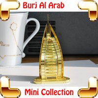 al stars - New Year Gift Burj Al Arab D Model Building Metal Golden Structure Hotal Star Dubai Symbolic Place DIY Toy For Fans