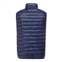Wholesale Fall winter Men s Ultra Light Down Double Sided Zipper Puff Gilet Vests Jackets Waistcoat Winter Jackets Colors