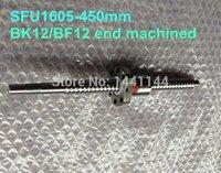 ballscrew nut - 1pc SFU1605 Ball Screw L mm BK12 BF12 end machined pc BallScrew Nut for CNC Router