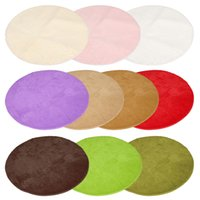 Wholesale The Best Quality Large Round Mats Rugs Circle Circular Plain Modern Carpet Shaggy Rugs Mats100 cm Color