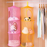 Fabric Sundries Eco Friendly New Arrival 3 Shelf Hanging Storage Net Kids Toy Organizer Bag Bedroom Wall Door Closet Storage Bag