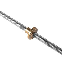 Wholesale T8 diameter mm screw pitch mm length mm spindle screw with copper nut use for D printer accessory s