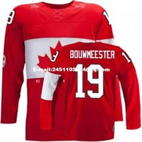 Cheap Retro throwback #19 JAY BOUWMEES Team Canada Jersey OLYMPIC HOCKEY Fast free shipping Customize any size player name number