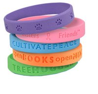 advertising middle east - High quality custom silicone wristband with your writing or logo debossed Custom silicone bracelet for advertising gift