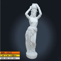 artificial life art - white angel artificial sandstone statue famouse roman girls sculpture life size modern western style outdoor statues