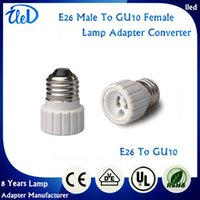 LED adapter e27 to gu10 - High Quality Fire proof PBT lamp base E26 to GU10 adapter converter CE RoHS holder adapter E27 To GU10 lamp holder