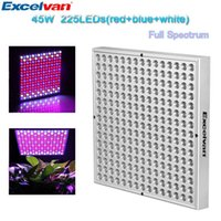 Wholesale Excelvan SMD LED Hydroponic Plant Grow Light Lighting Panel W W Greenhouse Hanging Lamp lt no tracking