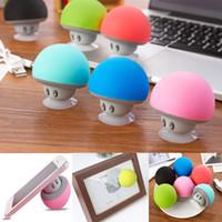 Cheap Mini Bluetooth Mushroom Speaker Sucker Mic Stand For Galaxy S6 S7 edge plus iPhone 6 6S SE Smart Phone Many Colors