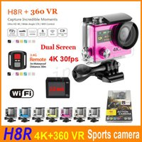 amateur boxing - H8R Ultra HD K fps Video Wifi Action Camera Remote Control inch quot Screen Waterproof degree Angle Lens SJ8000 H8 Retail box