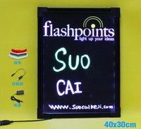 Wholesale Amazon hot selling LED Writing Board Fluorescent aluminum side LED Message Board Electronic Fluorescent Board LED Advertising Board